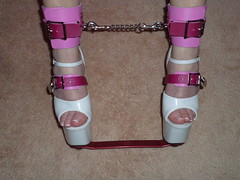 Description of How the Pink Shoe Locks are Made (KAFOmaker) Tags: sexy leather bar shoe chains high shoes highheel highheels lock sandals platform bondage chain strap heels locks heel bound buckle locked straps sandal buckles splint platforms strappy chained restraints restraint strapped spreader buckling strapping buckled
