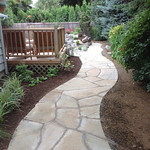 """Greenhaven Landscapes Inc., stone path, pavers, pathway, walkway, water feature, landscape, landscaping, lifescape <a style=""""margin-left:10px; font-size:0.8em;"""" href=""""http://www.flickr.com/photos/117326093@N05/12824419843/"""" target=""""_blank"""">@flickr</a>"""