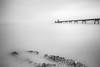 The road to Clevedon Pier (mono) (Rabc3) Tags: longexposure clevedonpier leend canon1022mmf3545 leefilters leendgrad canon600d leebigstopper 10stopfliter