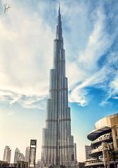 (Tower Khalifa) (Z.B!NS!ddeQ) Tags: blue sky sun tower canon photography photo dubai united uae emirates photograph arab unitedarabemirates          canon7d burjkhalifa