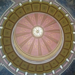 In the midst of waring histories: the Alabama State Capital was named the capital building of the Confederate States of America in 1861, but was also the culmination point of the Selma to Montgomery Voting Rights March a hundred and four years later. It's