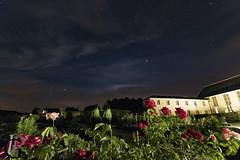 Fontevraud royal abbey by night (Jean-Phi92) Tags: longexposure sky france night stars evening wideangle ciel nuit nocturne toiles milkyway cloitre expositionlongue voielacte grandangle objectifs sigma1020mmf35 canon7d edificesreligieux canon7dmarkii architectureetbatiments