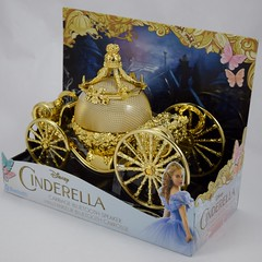Cinderella Carriage Bluetooth Speaker - HSN Purchase - Deboxing - Plastic Cover Removed - Full Right Front View (drj1828) Tags: gold carriage disney speaker wireless cinderella bluetooth audio purchase 2015 deboxing hsn homeshoppingnetwork