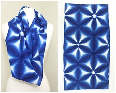 Japanese Shibori (FurugiStar) Tags: shibori indigo aizome cotton fabric textile folk japanese vintage furugistar blue white
