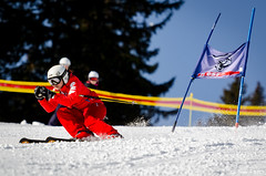 Ca tartine pas mal.... (La Pom ) Tags: combloux flêche compétition descente géant moniteur ouvreur porte piste stade rodhos ski