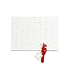 untitled (brescia, italy) (bloodybee) Tags: 365project jigsaw puzzle tiles pieces blood white red minimal minimalism stilllife