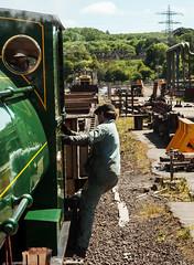 Steam to the Rescue - 1 (Kingmoor Klickr) Tags: peckett 1438 corus scunthorpe steelworks janus 2690 slabbay industrialrailway industry