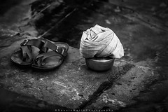 ||Chappal and Pot|| (SouvikMetiaPhotography) Tags: streetphotography streetphoto chappal kolkata nikon flickr pot dailylife bathingghat monochrome outdoor morning