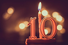 "Macro Mondays : ""Happy 10 Years!"" (_Wrathen_) Tags: macromondays happy10years macro hmm hbmm happy birthday joyeux anniversaire 10ans 10years celebration party bokeh bougie candle canon 750d 50mm"