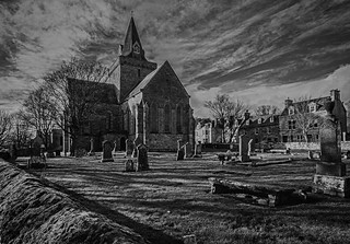 the church and graveyard