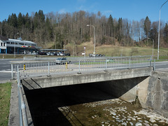LOR240 Schmittli Road Bridge over the Lorze River, Menzingen - Baar, Canton of Zug, Switzerland (jag9889) Tags: stone 20170325 bridge cantonzug switzerland lorze roadbridge concrete europe beambridge baar 2017 bach balkenbrücke barra beton bridges bruecke brücke ch cantonofzug crossing fluss gkz676 helvetia infrastructure kantonzug outdoor pont ponte puente punt reuss reusstributary river schweiz span strassenbrücke structure suisse suiza suizra svizzera swiss zg zug jag9889 menzingen