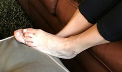 Propped Feet Toes (Ped-antics) Tags: sexy feet female foot footfetish femalefeet toes ankles arches amateur ankle