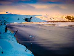 Skogafoss Sunset (Graeme Tozer) Tags: iceland skogafoss sunset river skogar waterfall longexposure winter snow