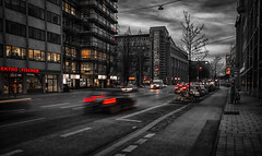 Sin City (Nick.Richards) Tags: sincity city munich germany street traffic selectivecolour colourpop moody nikon nikon1685 nickrichards nikond7100 nikefex d7100 lightroom sigma sigma1020mm 1020mm