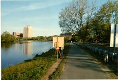 """""""Painting on the Charles River"""" (Cambridge Room at the Cambridge Public Library) Tags: colorprintsphotographs cambridgemass charlesrivermass photography19801990 photographycompetitions"""
