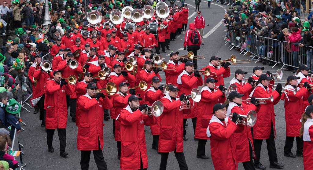 Illinois State University's Big Red Marching Machine [St. Patricks Parade 2017]-125852