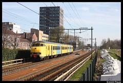 NSM 876 Vlaardingen oost (Jordi Pauw) Tags: nsm spoorwegmuseum 876 plan v vlaardingen oost hoekse lijn hoek van holland rotterdam canon 1000d 26 maart 2017 ret metro afscheid