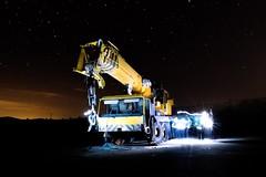 Abandoned crane truck (ivanmuñozperez) Tags: stars nigth fotografianocturna grua camion truck abandoned spain yecla
