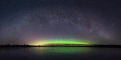 DSC4599 Panorama (Tanel Kindsigo) Tags: põlvamaakond estonia ee milkyway auroraborealis night sky tars dark lake ice reflection meenikunno bog landscape nightscape