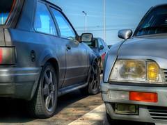 Escort RS Turbo / CX GTi Turbo 2 (Skylark92) Tags: nederland netherlands holland amsterdam noordholland oost east zeeburgereiland pr zuiderzeeweg citroen cx 25 2500 gti turbo 2 phase2 1986 ford escort 16 rs 1987 modified