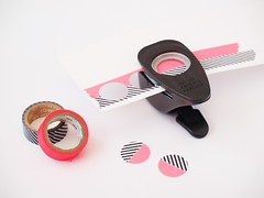 DIY: colorful washi tape dots (MissSabine) Tags: inspiration circle notebook diy colorful mt hole craft dot tape cover half punch dots crafting maskingtape washitape momentstolivefor