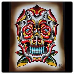 #roseskull #skull #rosetattoo #traditional