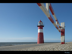 red - white - blue (Just me, Aline) Tags: blue red sea lighthouse white holland netherlands blauw nederland zeeland zee rood wit vuurtoren westkapelle lowangle laagstandpunt