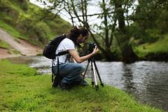 Day Sixteen (Katherine Hodgson) Tags: man river 50mm stream photographer dale dove peakdistrict peaks dovedale brenizer 100daysofsummer onehundreddaysofsummer summer100 summeronehundred