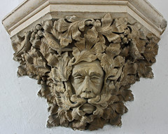 Sutton Benger Green Man 1 (John Ibbotson (catching up!)) Tags: man green church stone carving medieval sutton allsaints greenman mediaeval benger