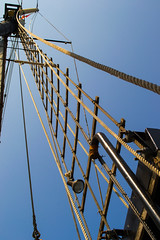 Kajama rigging (vynsane) Tags: toronto ontario greatlakes mast tallship lakeontario rigging on kajama