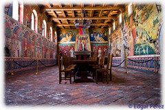 Supper (Eddietherocker) Tags: ca wood food usa castle art colors feast dinner vintage painting table lunch living amazing italian chairs wine eating creative relaxing royal murals palace queens kings walls winecountry vino napacounty castellodiamorosa