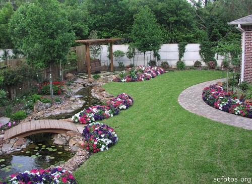 Paisagismo e jardinagem quintal decorado
