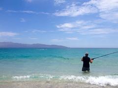 Fishing in the Bay of Dreams (Erin Claassen Photography) Tags: ocean beach mexico fishing sand waves punta bajacalifornia bajacaliforniasur arenas surffishing puntaarenas bayofdreams cerralvoisland bahiadelossuenos