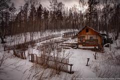 Siberian Cabin (Francis Cassidy) Tags: travel winter snow cabin russia hut siberia transsiberian transsiberianrailway krasnoyarsk westernsiberia riussia strayphotographer siberianwinter franciscassidy siberiancabin