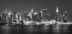 Manhattan Skyline (Jemlnlx) Tags: park new york city nyc 3 ny skyline night canon landscape eos evening long zoom mark manhattan iii hamilton nj august shutter jersey l 5d normal usm f28 ef weehawken 2470mm 2013