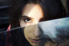Mag (Nowhere land) Tags: auto portrait sky woman reflection girl face look mujer eyes chica retrato cara ojos cielo reflejo mirada carwindow ventanilla ventanilladelauto