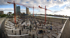 Dimon's tub (n.a.) Tags: panorama building london thames skyscraper river site construction riverside stitch pano panoramic wharf docklands bathtub canary e14 foundations jpmorgan iod