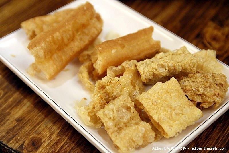 台北大安.滿堂紅頂級麻辣鴛鴦火鍋:老油條&豆皮
