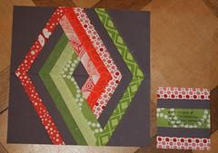 Christine's Interlocking Geometric quilt - my addition (by niveas) Tags: chur