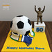 "Football Cake and Billy Bremner Statue by Mandalina Bakery • <a style=""font-size:0.8em;"" href=""http://www.flickr.com/photos/68052606@N00/10640229185/"" target=""_blank"">View on Flickr</a>"