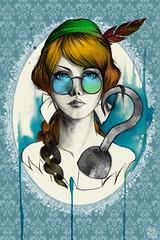 Story Serie - Peter Pan (Sah Matsui) Tags: art illustration watercolor peterpan story aliceinwonderland thewizardofoz