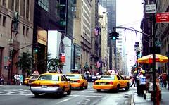 Yellow Taxis (hobbitbrain) Tags: nyc usa newyork yellow america unitedstates manhattan cab taxi 5thavenue trumptower 57thstreet thebigapple