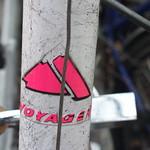 Voyager bicycle head badge logo thumbnail
