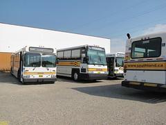 1995 New Flyer C40 #3996 (Ex Translink #3271) & 1995 New Flyer C40 #3998 (Ex Translink #3266) (busdude) Tags: new heritage flyer canadian foundation transportation transit southland c40 d40 farewelltothecalgarynewlookcharter
