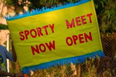 """Sporty Meet Now Open"" (ilovethirdplanet) Tags: india yellow maharashtra mumbai ind"