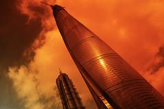 "pudong shanghai (伊拉克难民) Tags: world building architecture shanghai sigma 上海 pudong financial 建筑 foveon x3 金茂大厦 tower"" ""shanghai 浦东 大厦 环球金融大厦 ""jinmaotower"" dp1m"