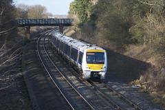 168106 Kings Sutton (MS Rail Photos) Tags: uk station train river railway railways floods chiltern cherwell kingssutton twyfordmill 168106