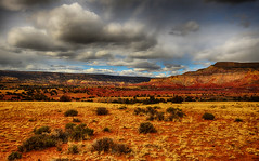 Red Landscape (Jeff Clow) Tags: usa newmexico nature clouds landscape redrocks ghostranch jeffrclow jeffclowphototours