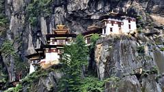 Tiger nest (Taktshang) (flowerikka) Tags: mountain landscape temple bhutan kingdom monastery monks valley paro himalaya gururinpoche