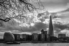 Skyline (Nathan Reading) Tags: b blackandwhite london canon river cityhall w shard riverthames lightroom sigma1020mm 650d